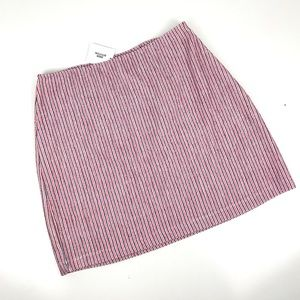 Urban outfitters textured cotton mini skirt